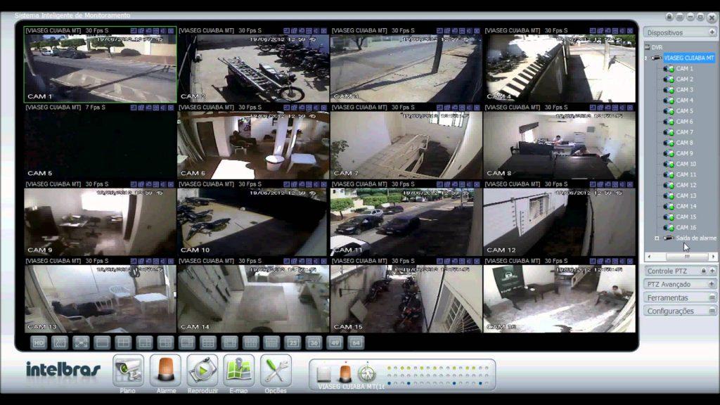 Tela do DVR - Digital Video Recorder